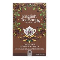 English Tea Shop Organic Chocolate Rooibos & Vanilla Tea Bags 20pc