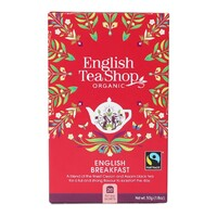 English Tea Shop Organic English Breakfast Teabags 20pc