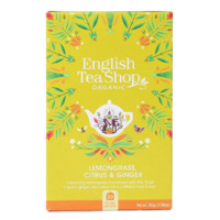 English Tea Shop Organic Lemongrass Ginger & Citrus Fruits Teabags 20pc