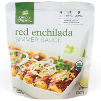 Simply Organic Red Enchilada Simmer Sauce 227g