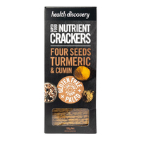 Health Discovery Paleo Four Seeds Turmeric & Cumin Nutrient Crackers 150g