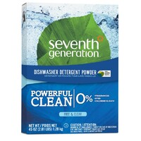 Seventh Generation Natural Dishwasher Detergent Powder Free & Clear 1.28kg
