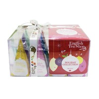 English Tea Shop Organic Christmas Assorted Red Prism 12ct