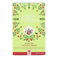 English Tea Shop Organic White Tea Tropical Fruits 20pc
