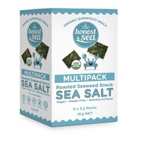 Honest Sea Seaweed - Sea Salt Mulitpack 6x3g