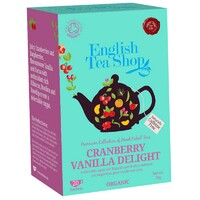 English Tea Shop Organic Cranberry Vanilla Delight Teabags 20pc