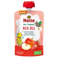 Holle Organic Pouch Apple with Strawberries 90g