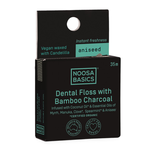 Noosa Basics Dental Floss with Bamboo Charcoal - Aniseed 35m