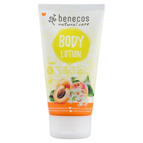 Benecos Natural Body Lotion 150ml - Apricot and Elderflower