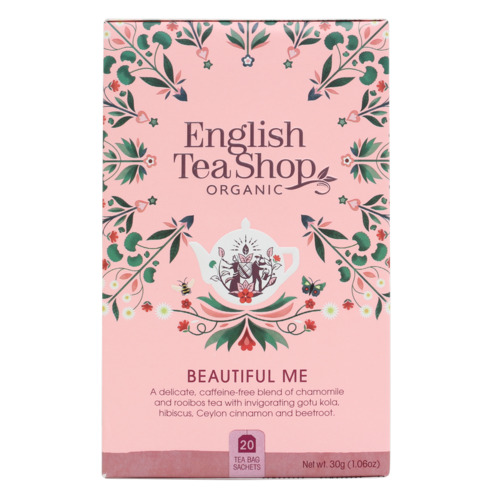 English Tea Shop Organic Wellness Tea Beautiful Me 20pc